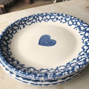 Vintage folk craft plates